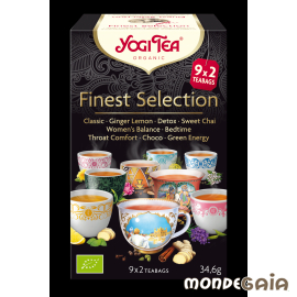 Yogi Tea FINEST SELECTION Classic,Jengibre y Limón,Detox,Chai Dulce,Mujer Equilibrio,Buenos S